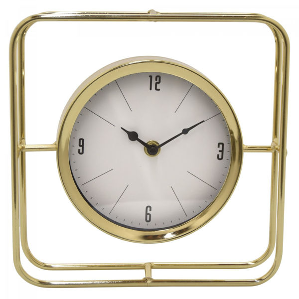 Picture of Gold Table Top Clock