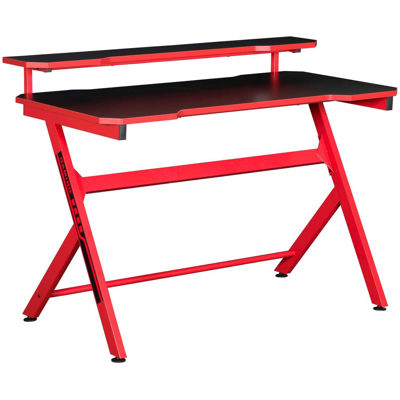 Picture of Red Metal Computer Desk