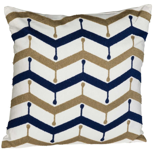 Picture of Navy Drip Drop 18x18 Inch Pillow *P