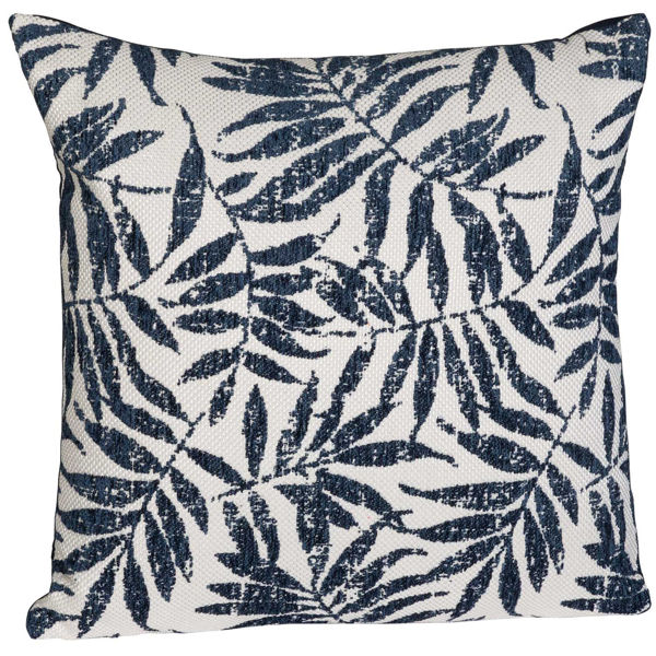 Picture of Navy Fern 18x18 Inch Pillow *P
