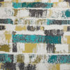 Picture of Teal Gold Strokes 18x18 Inch Pillow *P
