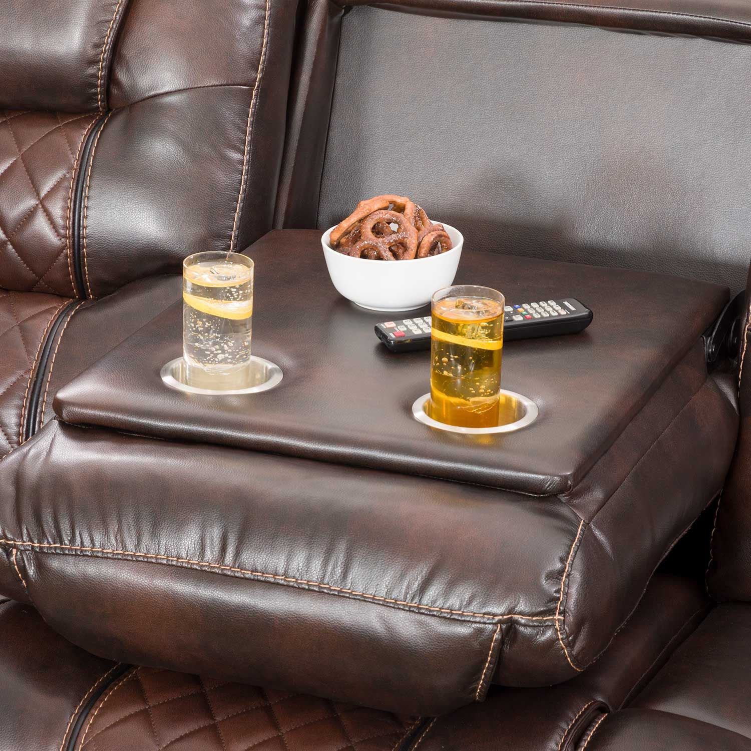 Picture of Weston Reclining Sofa with Drop Table