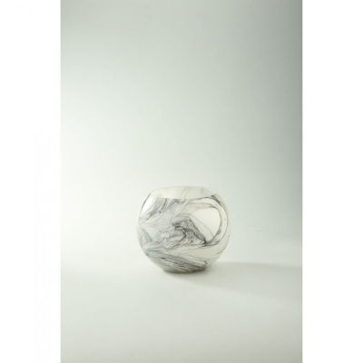 Picture of Grey White Swirl Glass Vase