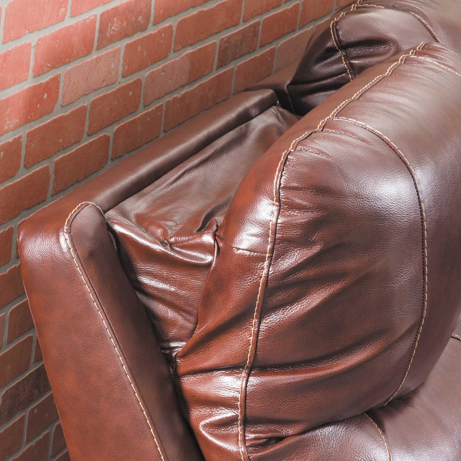 Picture of Dellington Walnut Power Recliner with Adjustable Headrest and Lumbar
