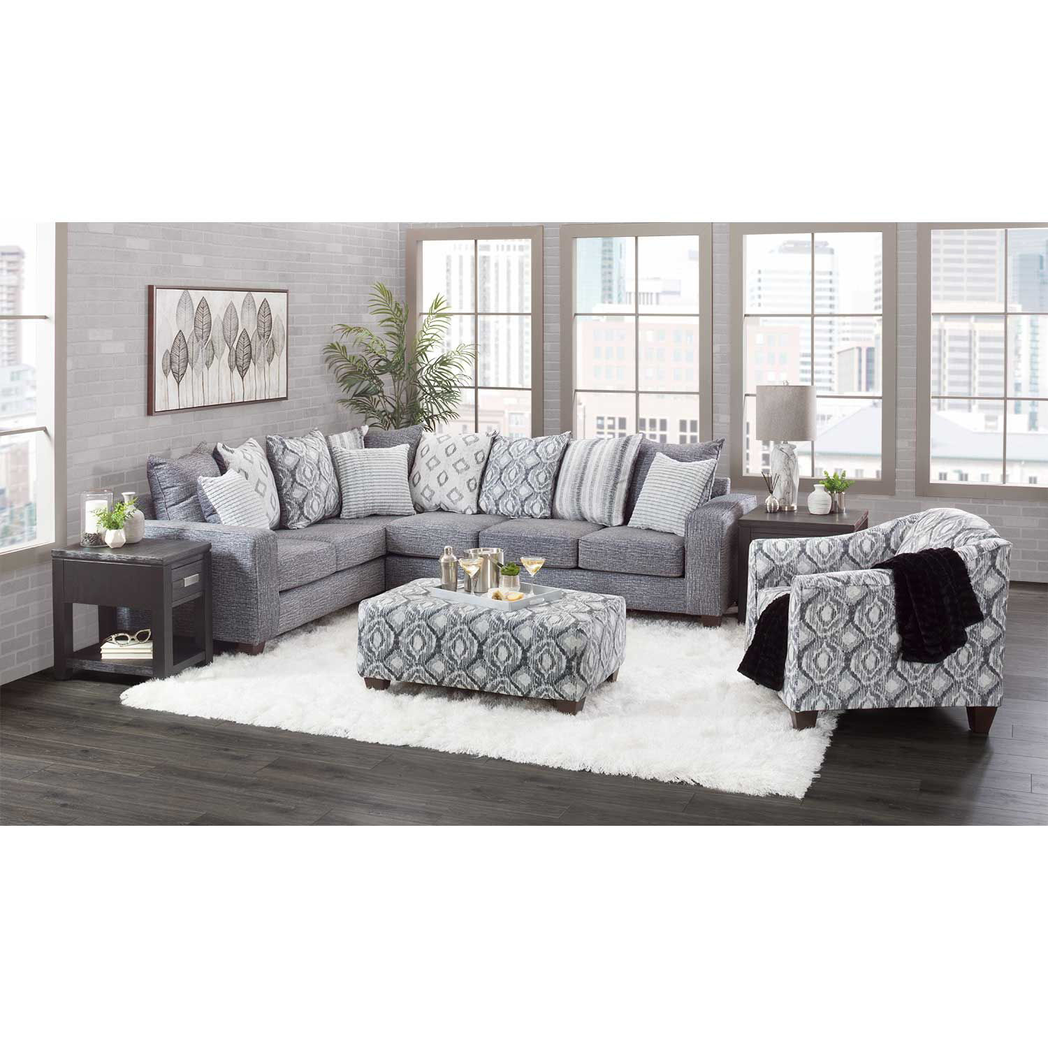 Picture of Melanie Stonewash 2 Piece Sectional