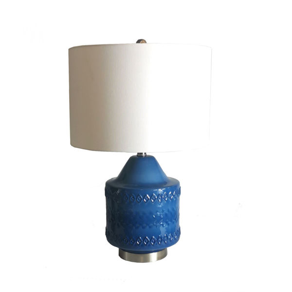Picture of Blue Ceramic Table Lamp