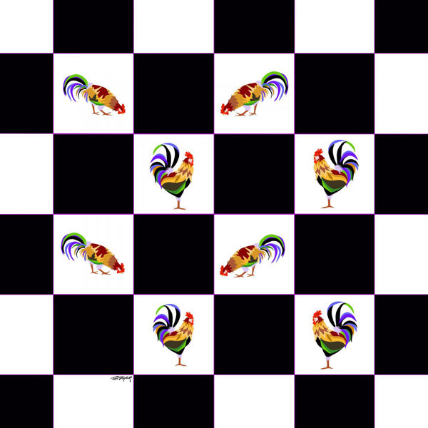 Picture of Checkerboard Chickens 36x36 *D