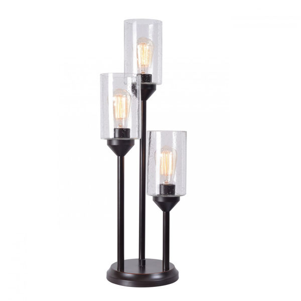 Picture of 3 Tiered Table Lamp with Bulbs