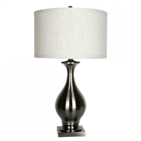 Picture of Coal Finish with White Shade Lamp
