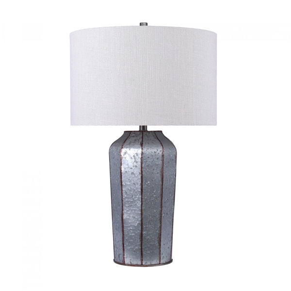 Picture of Galvanized Metal Table Lamp