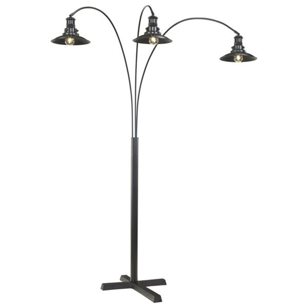 Picture of Sheriel 3 Metal Shade Arc Lamp