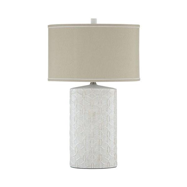 Picture of Shelvia White Ceramic Table Lamp