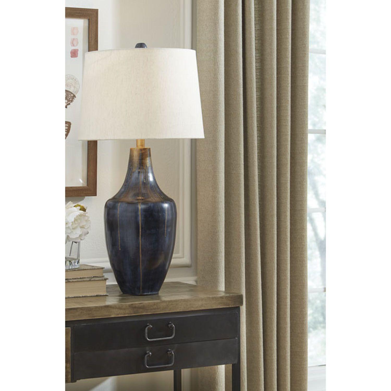 Picture of Evania Indigo Metal Table Lamp