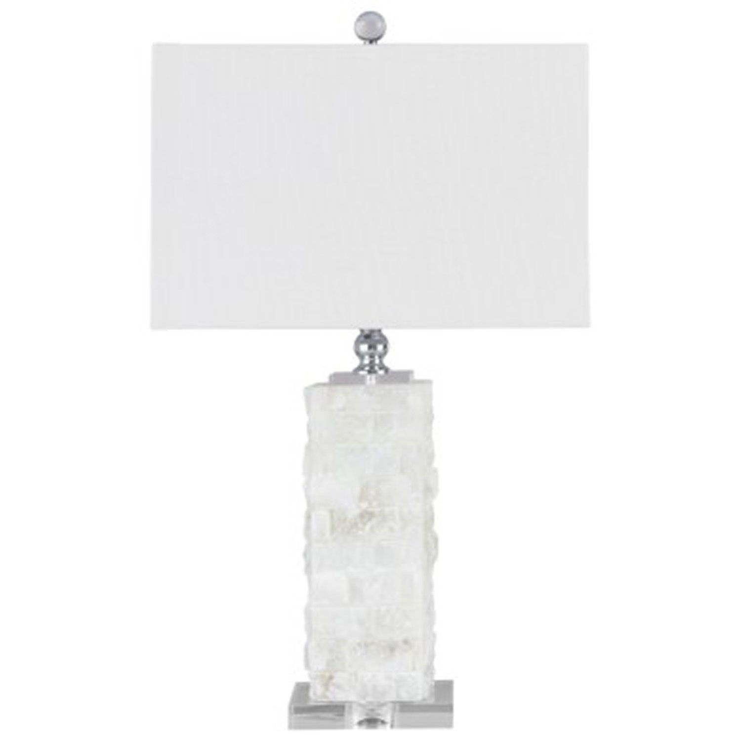 Picture of Malise White Alabaster Table Lamp