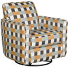 Picture of Kyra Plaid Swivel Glider