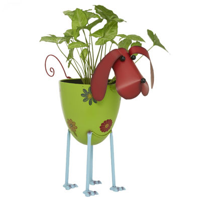 Picture of Metal Dog Planter