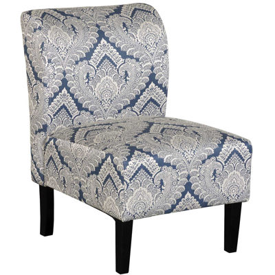Picture of Belle Blue Paisley Armless Chair