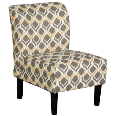 Picture of Belle Gray & Yellow Geo Armless Chair
