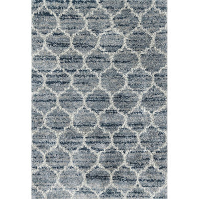 Picture of Quincy Spa Pebble Geo 5x8 Rug