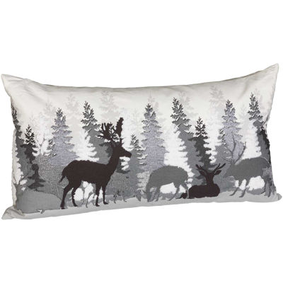 Picture of Deer Gather Pillow 14x26 Inch
