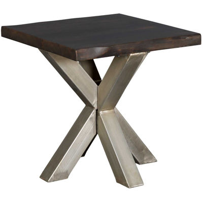Picture of Cross Live Edge End Table