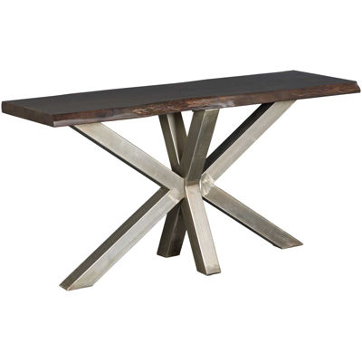 Picture of Cross Live Edge Sofa Table