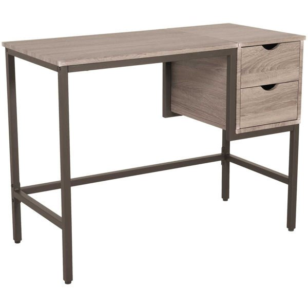 Picture of Clarke Two-Tone Grey Desk