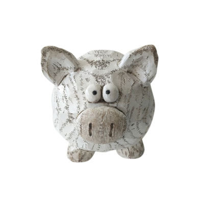 Picture of White Pig Decor