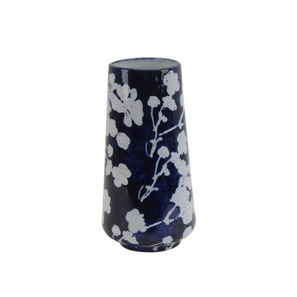 Picture of Blue Floral Vase Ceramic