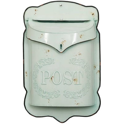 Picture of Light Blue Vintage Mailbox