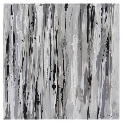 Picture of Gray/Black Abstract Art 32x32