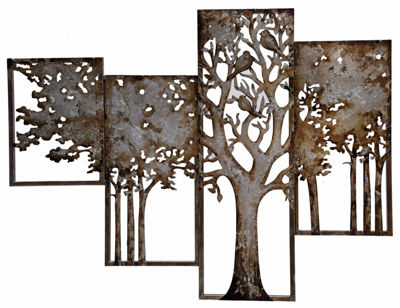 Picture of Divided Metal Tree Art