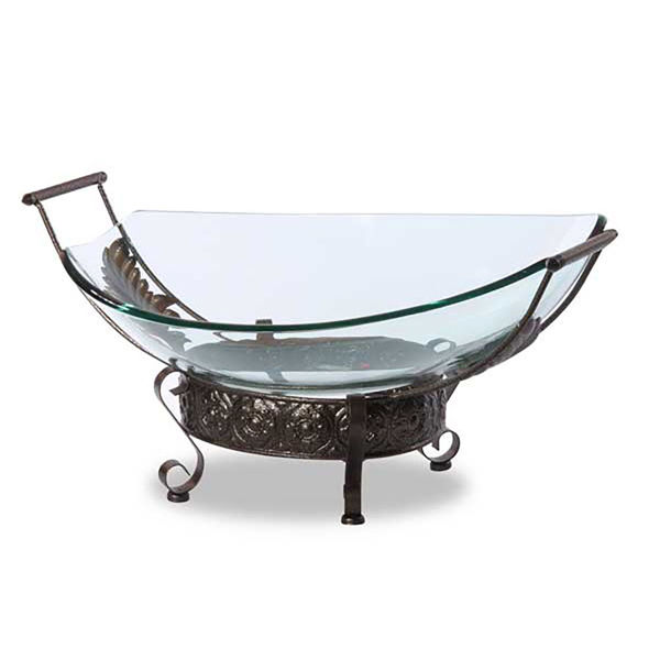 Picture of Glass Bowl on Iron Stand