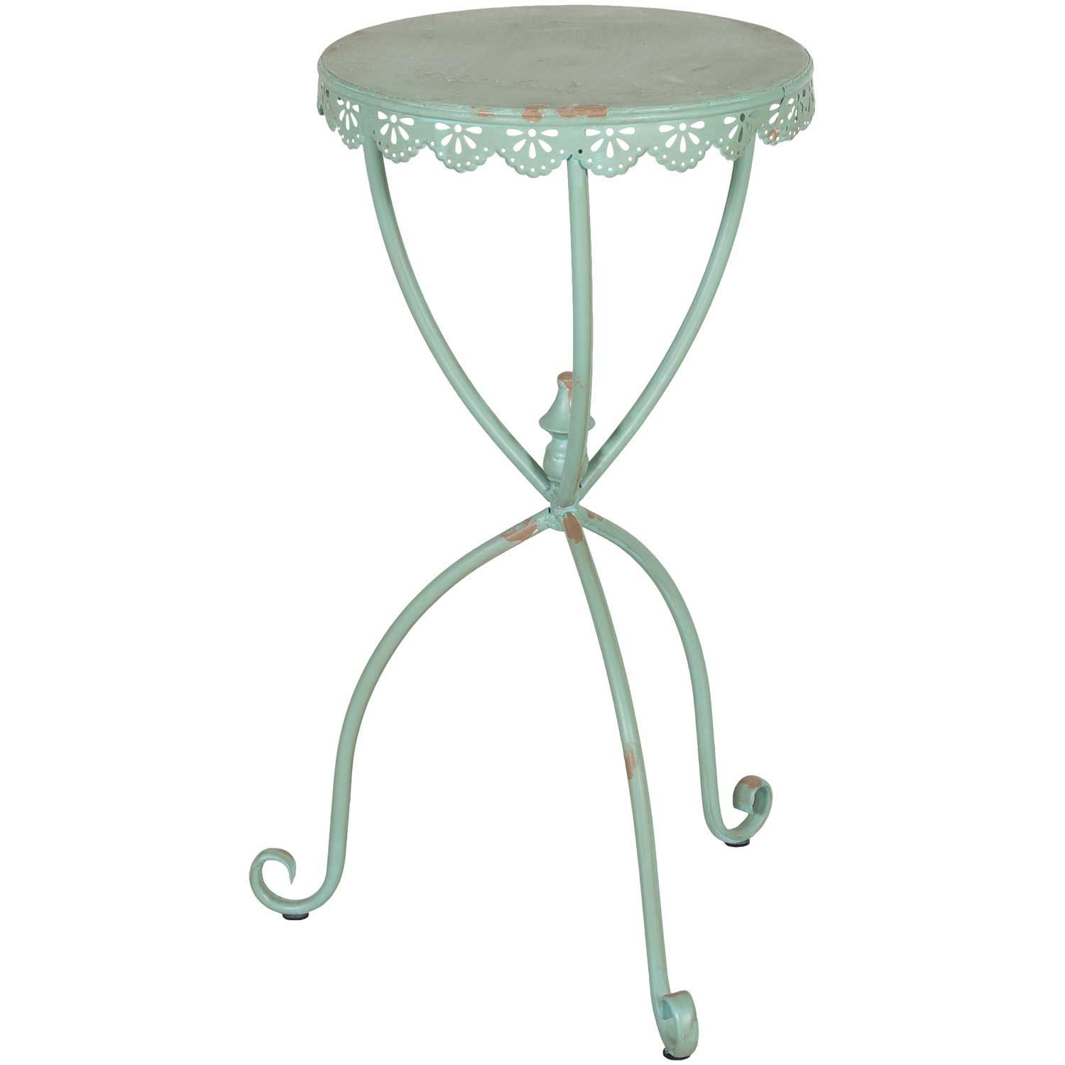 Picture of Green Metal Accent Table