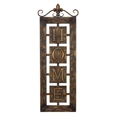 Picture of Metal Home Wall Plaque