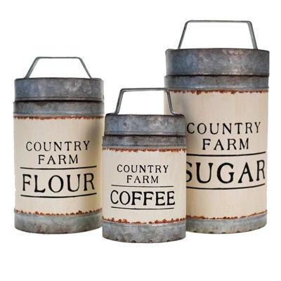 Picture of Set 3 Country Farm Canisters