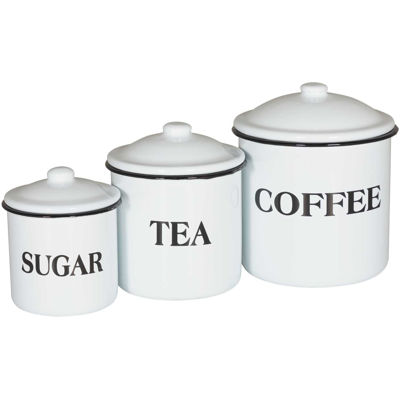 Picture of Set 3 Enamel Canisters