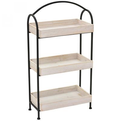 Picture of 3 Shelf Wood Metal Rack