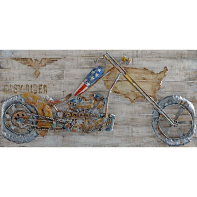 Picture of Motorcycle In Metal Art