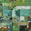 Picture of Aqua Green Abstact 31x31