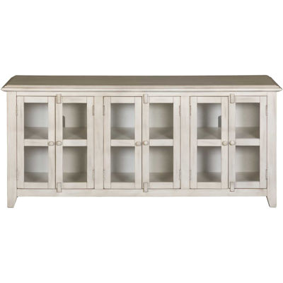 "Picture of Marble White 70"" TV Stand"