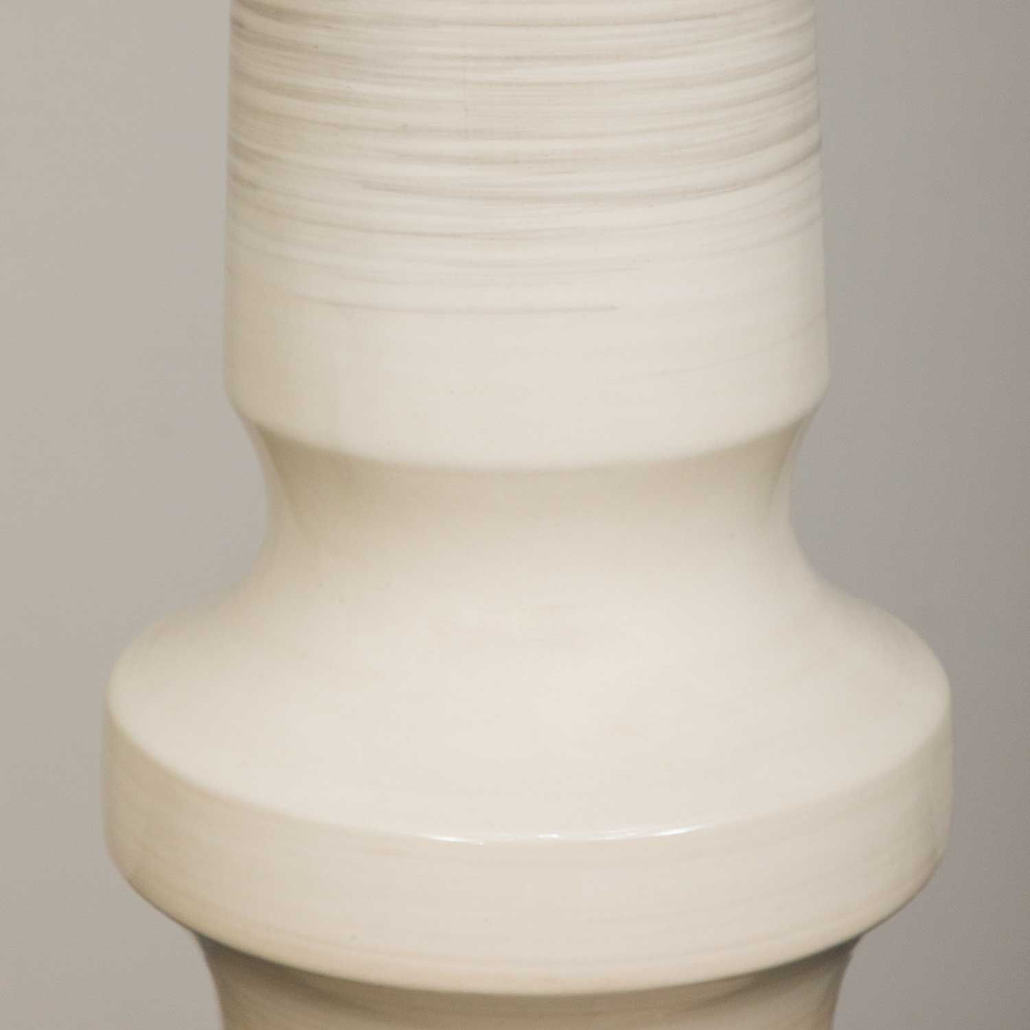 Picture of Taupe Turned Ceramic Vase