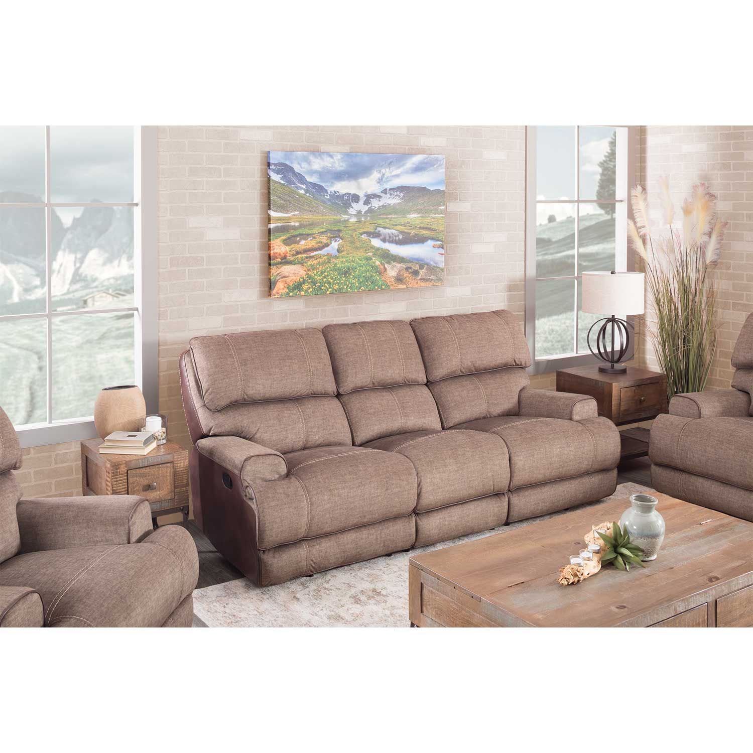 Picture of Clive Reclining Console Loveseat