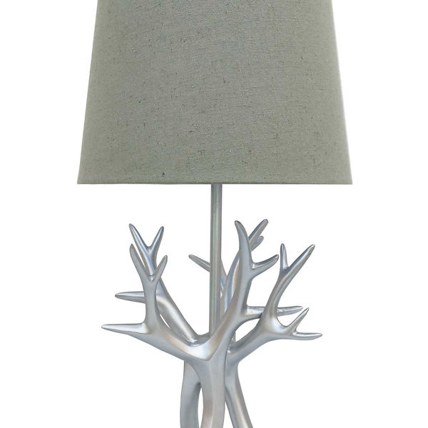 Picture of Silver Antlers Table Lamp