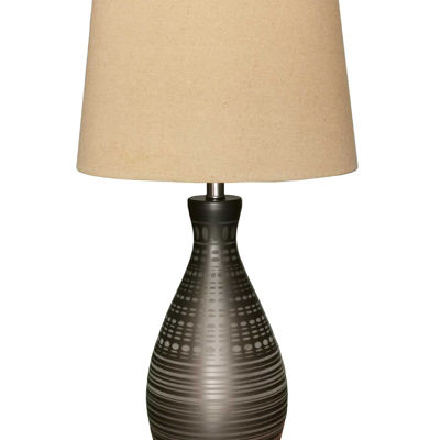Picture of Striped Cone Table Lamp