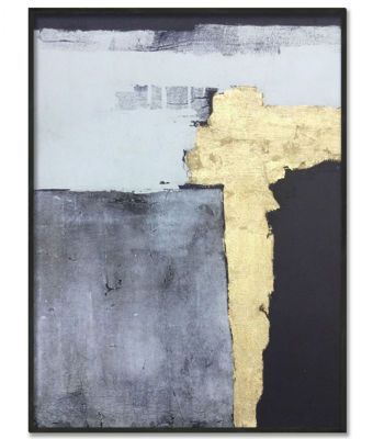 Picture of Framed Grey with Silver Abstract