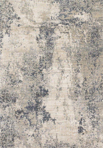 Picture of Natural Denim Abstract 5x8 Rug