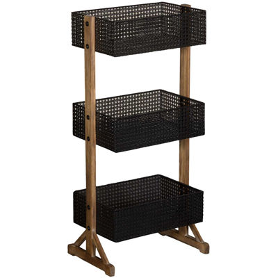 Picture of Black Three Tier Metal Basket
