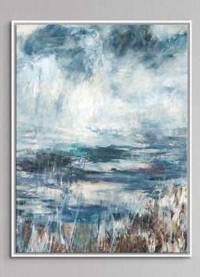 Picture of Pond and Pasture Giclee White Frame