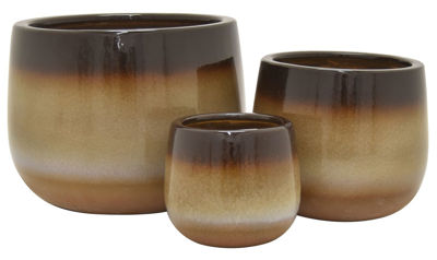 Picture of Set of 3 Earthtone Planter